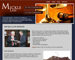 Thumbnail of www.micklelaw.com