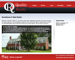 Thumbnail of www.qualityrealtyok.com