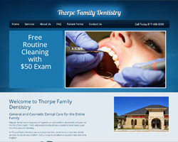 Thumbnail of www.thorpedentistry.com