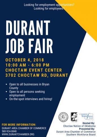 Durant job listings