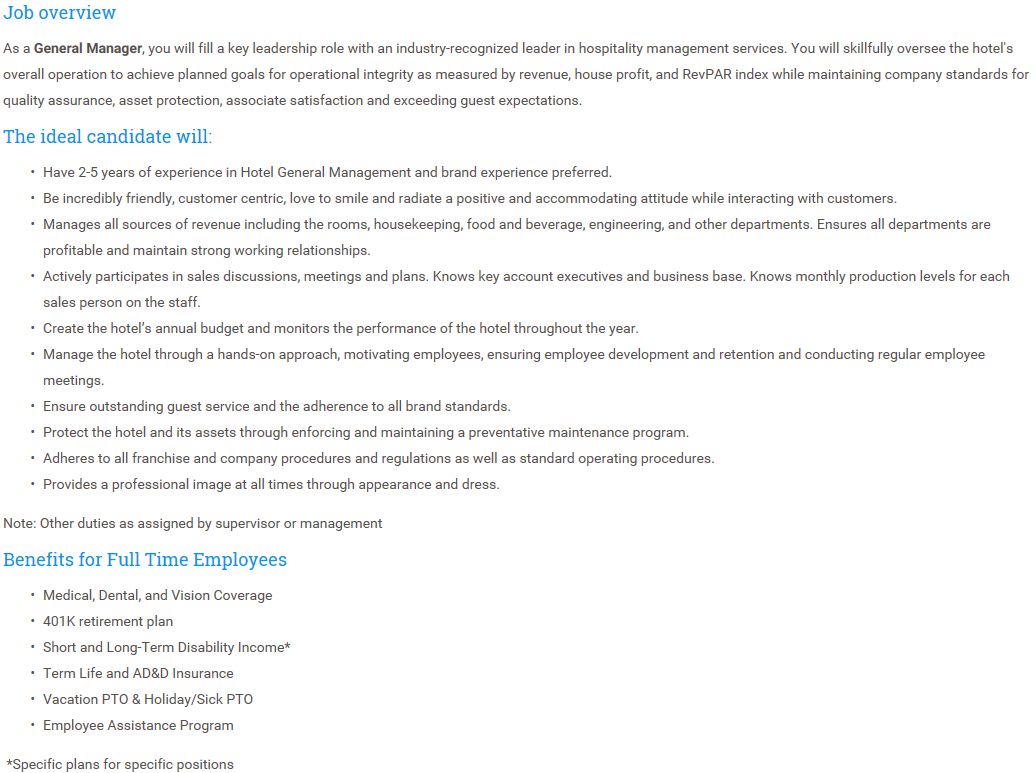 Durant Area Chamber of Commerce - Job listings for Hampton Inn & Suites